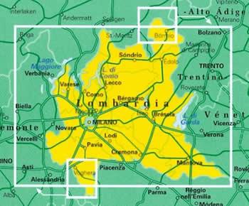 Cartina Lombardia Stradale.Mappa Stradale Regionale Lombardia