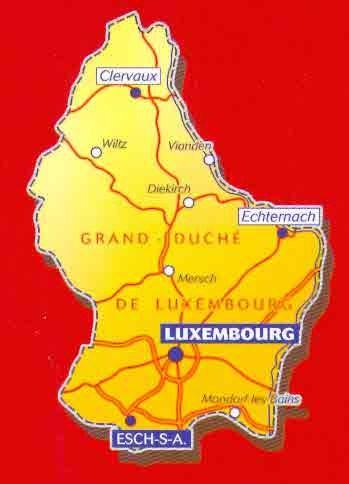 immagine di mappa stradale mappa stradale n.717 - Lussemburgo