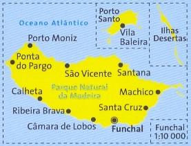 Madeira Cartina.Mappa Topografica N 234 Madeira Mappa Escursionistica