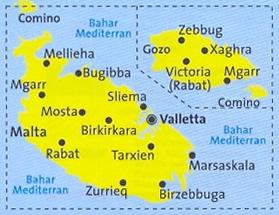 Cartina Di Malta Dettagliata.Mappa Topografica N 235 Malta Gozo Valletta Comino Rabat Mosta Sliema Con Informazioni Turistiche Sentieri Spiagge E Luoghi Panoramici Compatibile Con Gps
