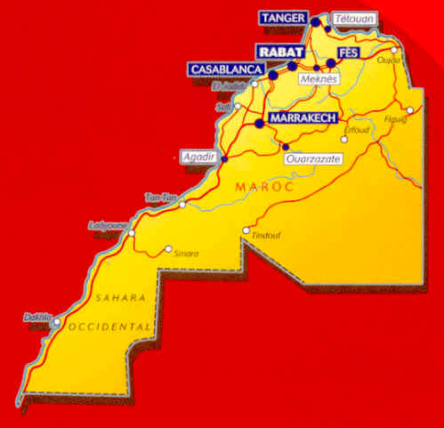 Agadir Marocco Cartina.Mappa Stradale N 742 Marocco Con Marrakech Agadir Casablanca Rabat Tanger Fes E Sahara Occidentale