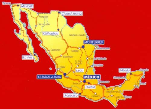 Cartina Stradale Messico.Mappa Stradale N 765 Messico Con Baja California E Yucatan