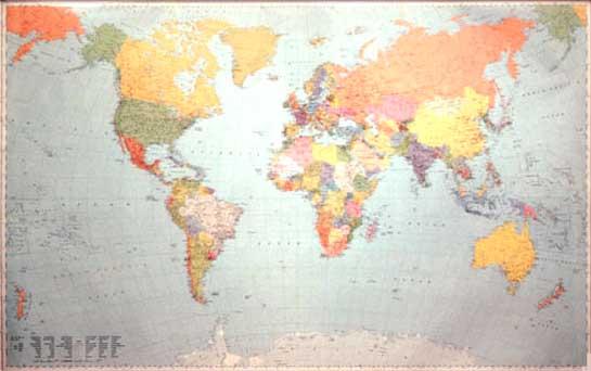 immagine di mappa stradale mappa stradale Il Mondo (planisfero) - edizione 2013