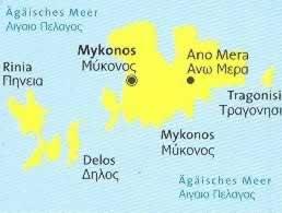 immagine di mappa topografica mappa topografica n.249 - Mykonos, Delos, Rinia, Tragonisi (isole della Grecia) - mappa escursionistica, con spiagge, percorsi per il trekking, luoghi panoramici e parchi naturali - compatibile con GPS - nuova edizione