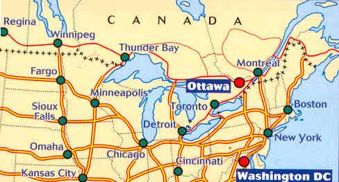 Cartina Stradale Italia Nord Est.Mappa Stradale 583 Usa Nordest Canada Est