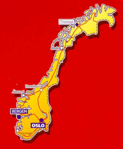 Cartina Norvegia Stradale.Mappa Stradale N 752 Norvegia