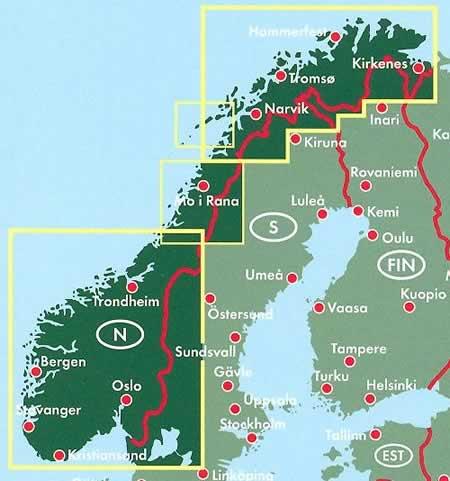 Cartina Norvegia Stradale.Mappa Stradale Norvegia