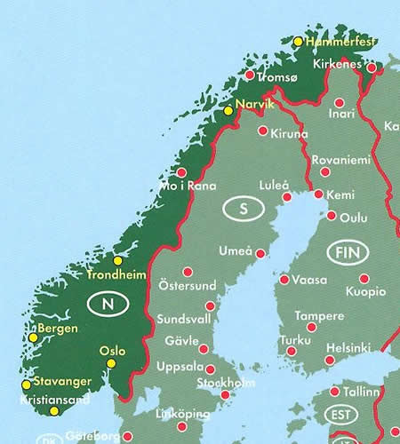 immagine di atlante stradale atlante stradale Norvegia - Atlante Stradale a Spirale - nuova edizione