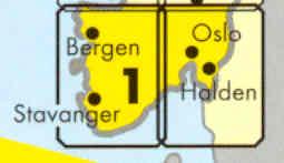 immagine di mappa stradale mappa stradale N. 1 - Norvegia Sud - Oslo, Bergen, Stavanger, Kristiansand