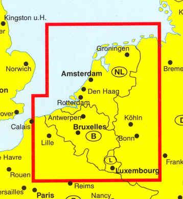 immagine di mappa stradale mappa stradale Olanda, Belgio e Lussemburgo (Benelux) - edizione 2013