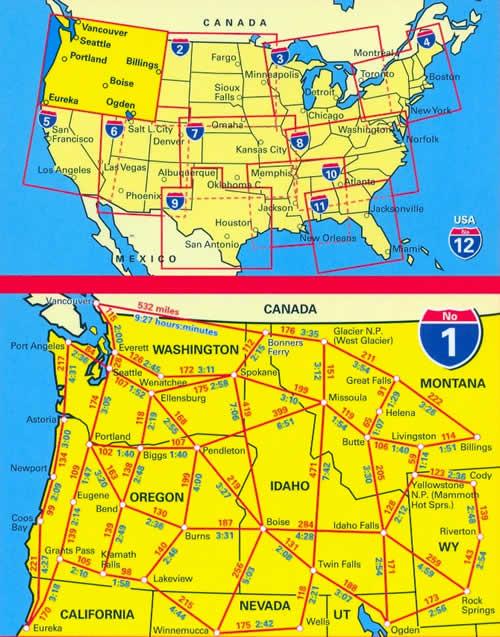 Seattle Cartina.Mappa Stradale N 1 Pacific Northwest Con Seattle Everett