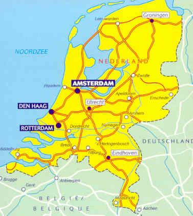 immagine di mappa stradale mappa stradale n.715 - Paesi Bassi / Olanda - con Amsterdam, Rotterdam, Den Haag