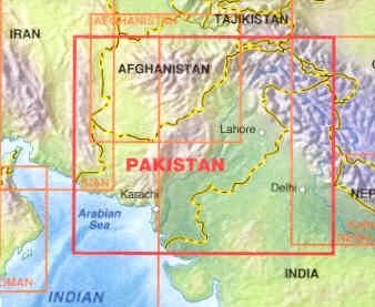 immagine di mappa stradale mappa stradale Pakistan