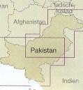 immagine di mappa stradale mappa stradale Pakistan - con Islamabad, Azad Kashmir, Peshawar, Shaksam Valley e Karakoram, Srinagar, Lahore, Quetta, Multan, Karachi, Hyderbad, Saravan (Iran) - Mappa Plastificata