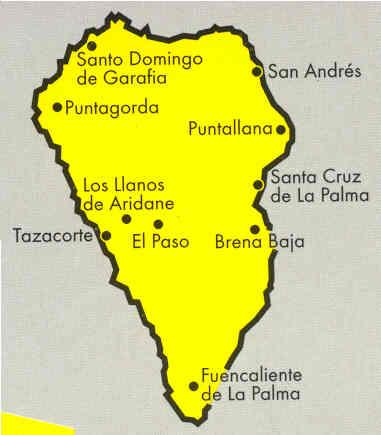 immagine di mappa stradale mappa stradale La Palma - Isole Canarie