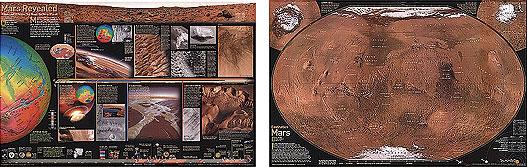 immagine di mappa mappa Il Pianeta Rosso - Marte / Mars, The Red Planet