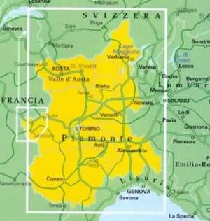 Cartina Geografica Piemonte Valle D Aosta.Mappa Stradale Regionale Piemonte E Valle D Aosta Mappa Plastificata