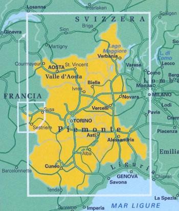 Cartina Dettagliata Piemonte.Mappa Stradale Regionale Piemonte Valle D Aosta Mappa Stradale Nuova Edizione