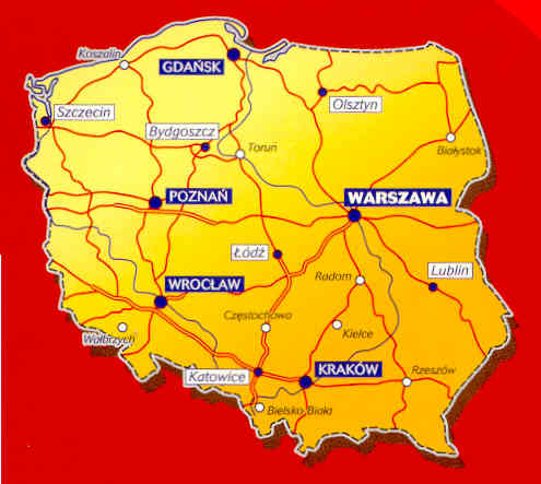 immagine di mappa stradale mappa stradale n.720 - Polonia