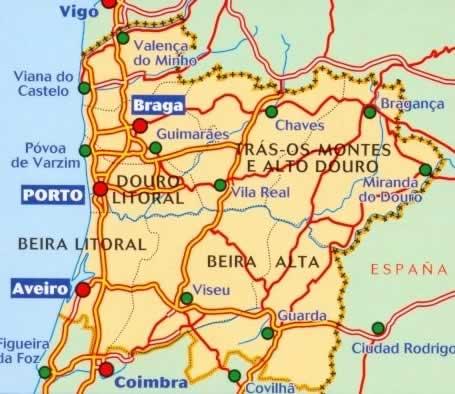 immagine di mappa stradale mappa stradale n.591 - Portogallo del Nord - con Braga, Porto, Aveiro, Viseu, Guarda, Miranda do Douro, Chaves - edizione 2013