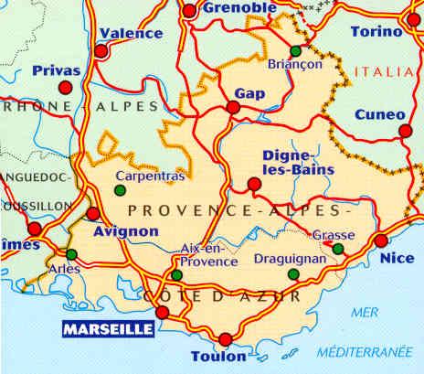 Cartina Geografica Costa Azzurra Francia.Mappa Stradale Regionale 527 Provence Provenza Alpes Cote D