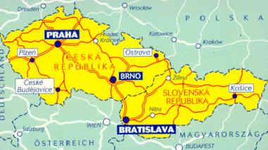 immagine di mappa stradale mappa stradale 731 - Repubblica Ceca, Repubblica Slovacca