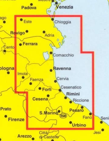 Cartina Costa Adriatica Italia.Mappa Stradale Riviera Adriatica Con Delta Del Po Lidi Ferraresi Lidi Ravennati Costa Romagnola San Marino Nuova Edizione Edizione 2013