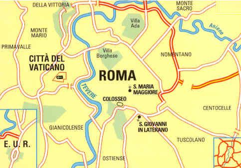 Citta Di Roma Cartina.Mappa Di Citta 38 Roma