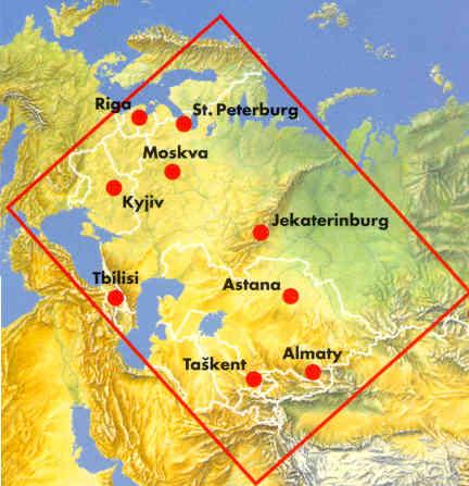 Cartina Della Russia Europea.Mappa Stradale C I S Russia Europea Stati Baltici E Georgia