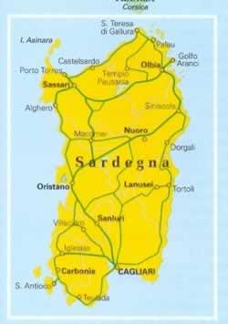 Cartina Stradale Sardegna Pdf.Mappa Stradale Regionale Sardegna Mappa Plastificata