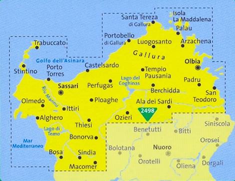 Cartina Stradale Nord Sardegna.Mappa Topografica N 2497 Sardegna Del Nord Set Di 4 Mappe Escursionistiche Con Sentieri Per Il Trekking E Mtb Compatibili Con Gps