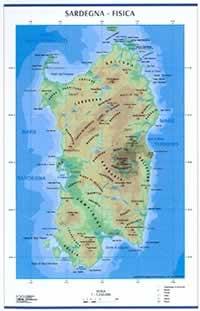 Cartina Sardegna Fisica E Politica.Mappa Murale Sardegna Mappa Murale Fisica E Politica Plastificata Con Aste 98 X 138 Cm