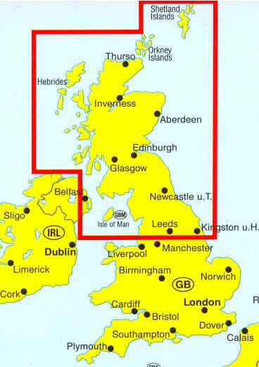 Scozia Cartina Stradale.Mappa Stradale Scozia Nord Inghilterra Edizione 2013