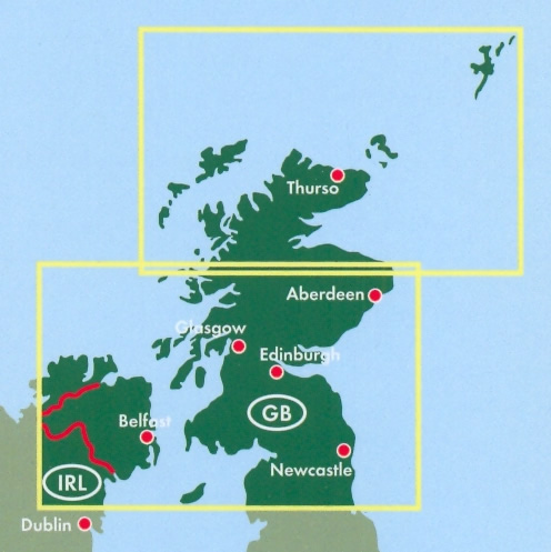 Scozia Cartina Stradale.Mappa Stradale Scozia E Inghilterra Del Nord Con Thurso Aberdeen Edinburgo Edinburgh Glasgow Newcastle Belfast Edizione 2019