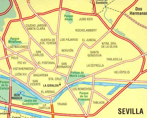 Siviglia Cartina.Mappa Di Citta N 74 Siviglia Sevilla