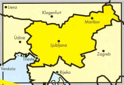 immagine di mappa stradale mappa stradale Slovenia - Slowenien - Slovenija