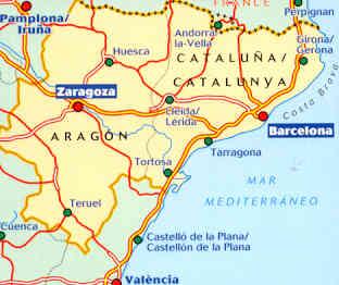 Cartina Spagna Catalogna.Mappa Stradale N 574 Spagna Aragon Cataluna Catalunya Catalogna Nuova Edizione