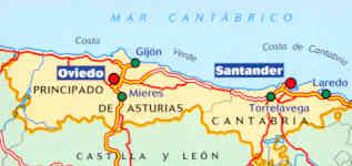 Mappa Spagna Oviedo.Mappa Stradale N 572 Spagna Nord Asturias Cantabria Con Oviedo E Santander Nuova Edizione
