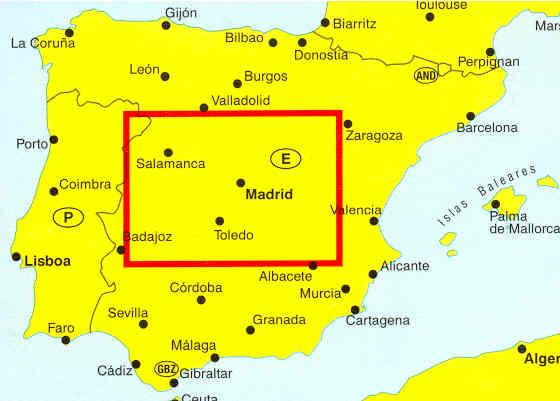 Cartina Della Spagna Geografica.Mappa Stradale Spagna Centrale Nuova Castiglia E Estremadura Edizione 2013