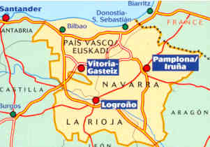 immagine di mappa stradale mappa stradale n.573 - Spagna Nord - Paìs Vasco/Euskadi/Paesi Baschi, Navarra, La Rioja