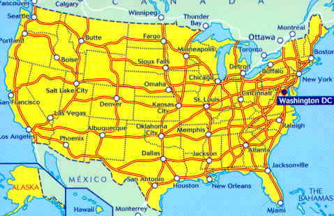 Usa Stati Cartina.Mappa Stradale 761 Usa Stati Uniti D America