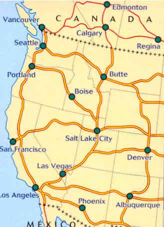 Cartina Stradale Usa Ovest.Mappa Stradale 585 Usa Ovest Stati Uniti D America Ovest Canada Ovest