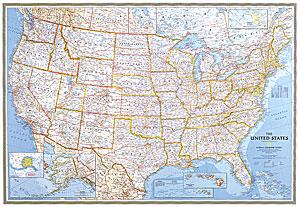 Stati Uniti Cartina Fisica E Politica.Mappa Murale Usa Stati Uniti D America Politica Plastificata 180 X 125 Cm