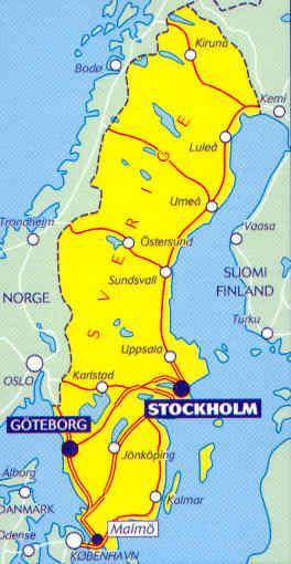 immagine di mappa stradale mappa stradale 753 - Svezia