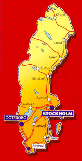 immagine di mappa stradale mappa stradale n.753 - Svezia
