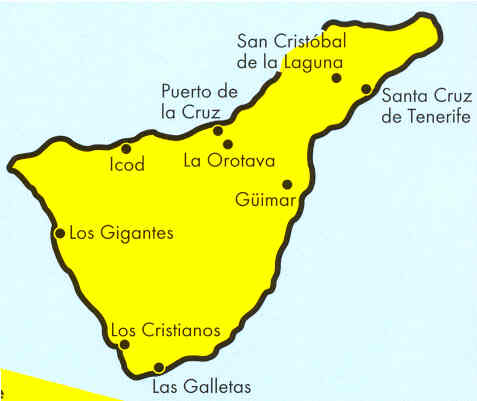immagine di mappa stradale mappa stradale Tenerife / Teneriffa - Isole Canarie