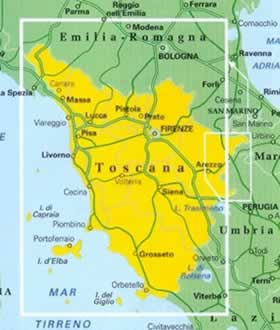 Toscana Politica Cartina Geografica.Cartina Muta Regione Toscana