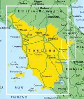 immagine di mappa stradale regionale mappa stradale regionale Toscana - mappa stradale - nuova edizione