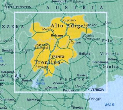 Trentino Alto Adige Cartina Stradale.Mappa Stradale Regionale Trentino Alto Adige Nuova Edizione