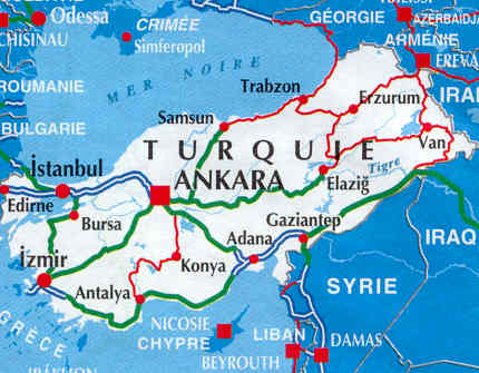 immagine di mappa stradale mappa stradale Turchia